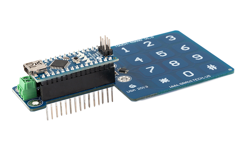 Capacitive touch keypad add on for arduino nano