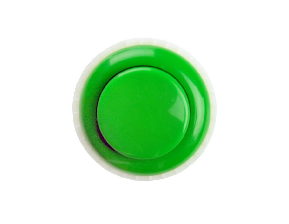 Push button 33mm green - Green button ...