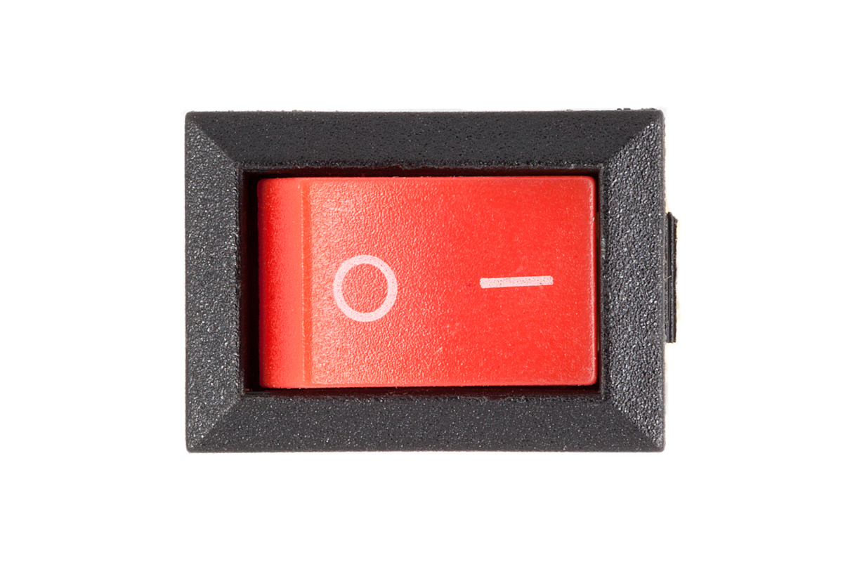 10PCS 21*15mm SPST Power supply Rocker Switch With lamp red green light Switches