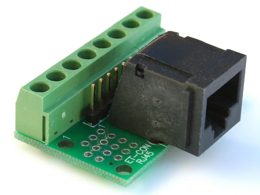 Rj 45 Breakout Board Ethernet Isdn Cat5 Adapter Rj 45 Ebay