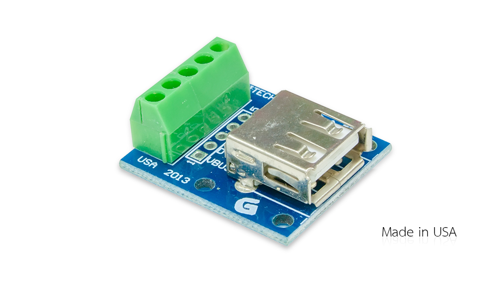 usb type a female breakout board