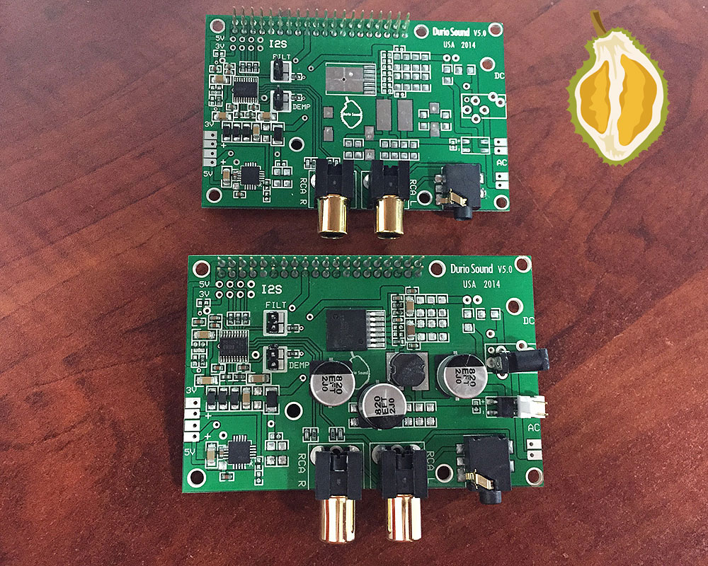Durio Sound, an ultimate sound quality for the Raspberry Pi!