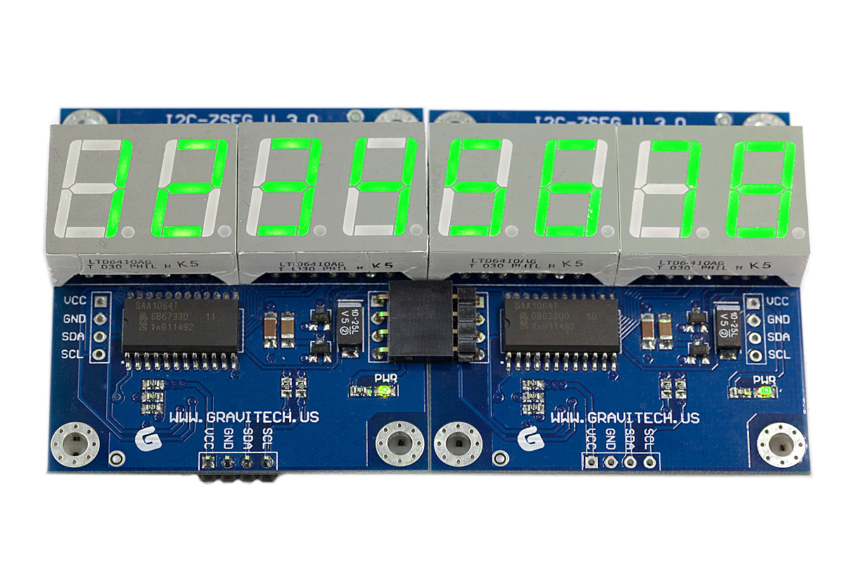 I2c 4 Digit 7 Segment Display V30 Seven Led System Schematic 7seg V3 Basic Stamp Bs2p Example Code 7segbsp Picaxe Picaxebas