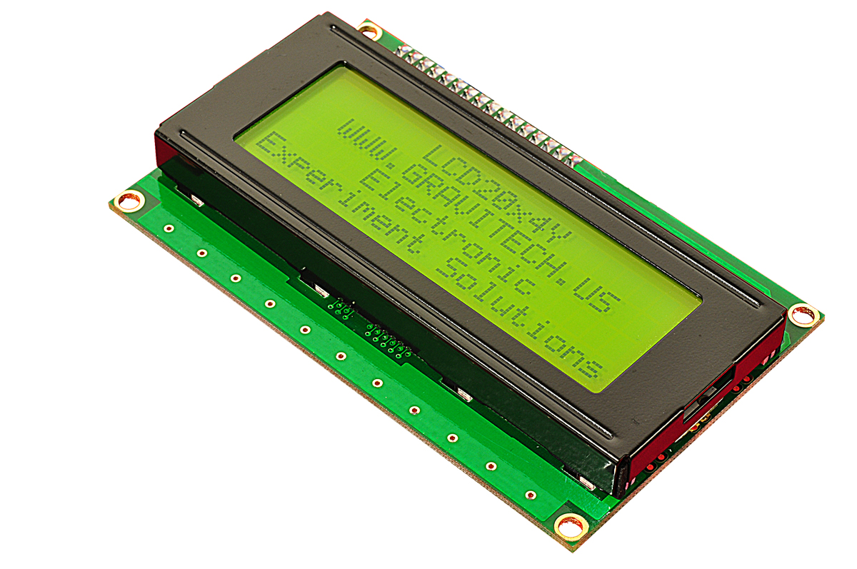 20x4 Black On Green Character Lcd With Backlight Contrast Control For Lcds