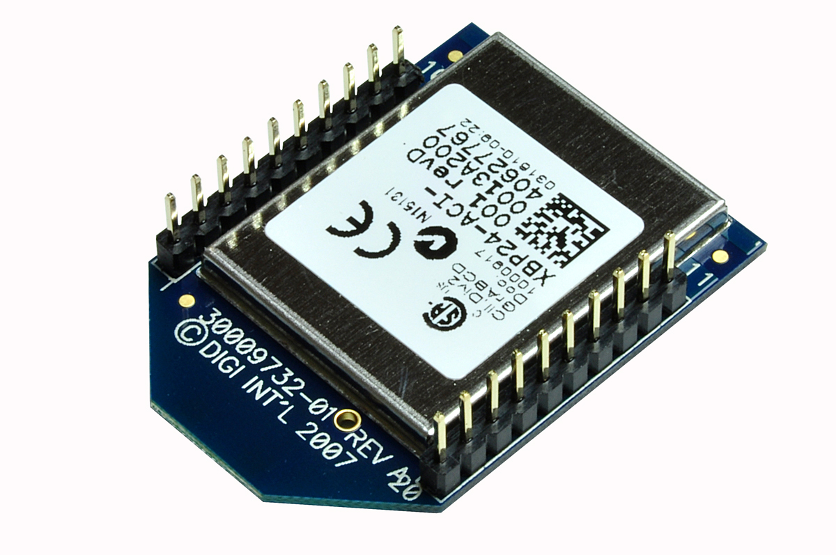 XBee PRO 802 15 4 (Series 1) 63mW Point-to-Multipoint RF Module with